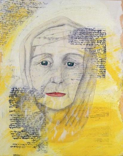 Für Alma,, Mischtechnik auf Holz, 50 x 40 cm, im Besitz der Stiftung, Braunschweigischer Kulturbesitz