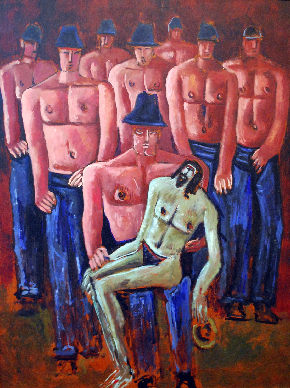 marsden-hartley-christ-held-by-half-naked-men