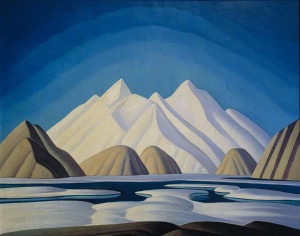 FILE--A large Lawren Harris canvas entitled Baffin Island (shown) was to be auctioned off Tuesday night, May 29, 2001 in Toronto, and art experts predicted it could break the record price for a Canadian painting. (CP PHOTO/HO)