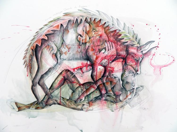 Guernica Mitológico Devorando La Corrupción (2)