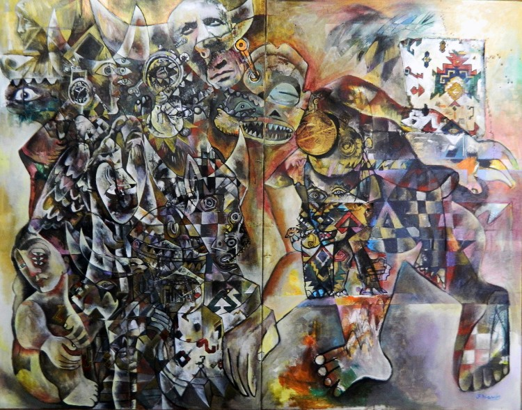 Gernica 6 La Bestia Indomable mixta lienzo 146 x116cm 2017 (2)