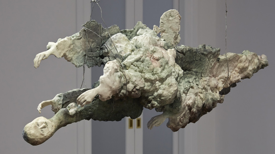 Enrico-David-Untitled-view-2-2014-Celotex-expanding-foam-fibre-tissue-jesmonite-pigment-wire-c
