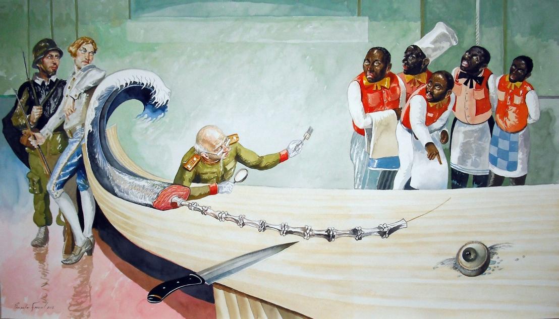 Robo en la mesa del general. 67x117cm.  (2).jpg