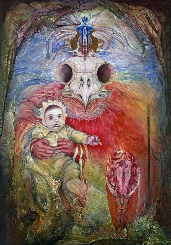 The Surrogate Mother-Goddess of Wisdom holding Alter-Ego Baby Bo