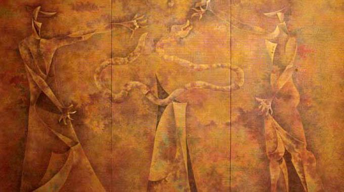 orlando-sobalvarro-adan-y-eva-en-el-paraiso-triptico-pintores-latinoamericanos-juan-carlos-boveri
